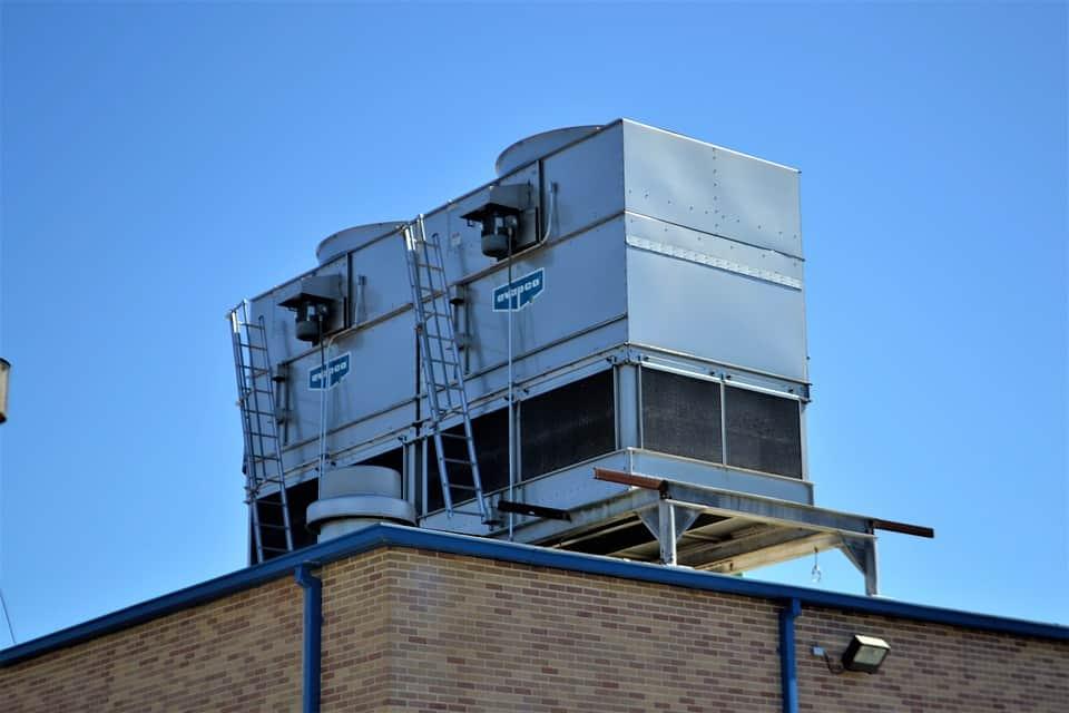 machine on roof